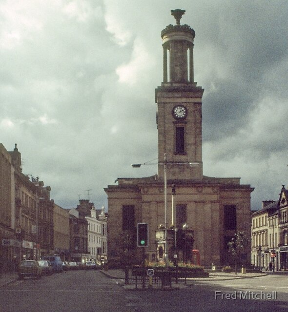 Church Main Street Elgin Scotland 19840916 0001  Had the church beeen the centre of the town ? by Fred Mitchell