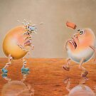 DON'T THROW STONES....Miming Eggs Series by RealZeal
