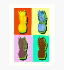 LIMITED EDITION PINEAPPLE POP ART -THE FAB  4- JANE HOLLOWAY  Art Print