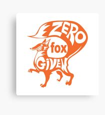 Zero fox Canvas Print