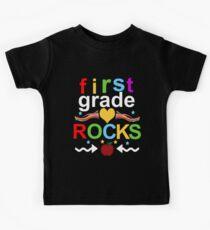 First Grade Rocks  Kids Tee