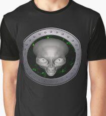 Alien UFO Porthole (without text) Graphic T-Shirt