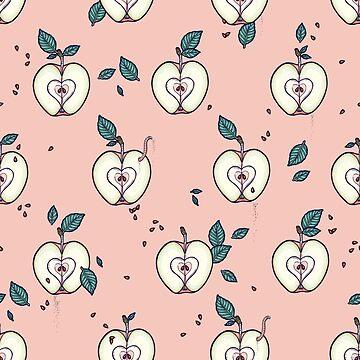 organic apple by smalldrawing