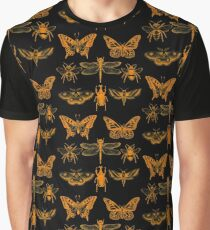 Yellow Insect Series Graphic T-Shirt
