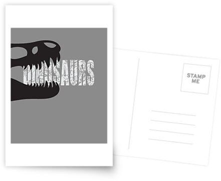 Dinosaurs, Skeleton (schwarz-weiss) von fritzlang