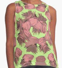 SPIRALIZED PINEAPPLE POP ART| LIGHT GREEN | PASSIONATE BLUSH PINK  Contrast Tank