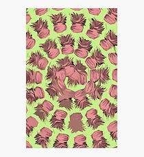 SPIRALIZED PINEAPPLE POP ART| LIGHT GREEN | PASSIONATE BLUSH PINK  Photographic Print