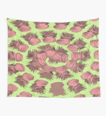 SPIRALIZED PINEAPPLE POP ART| LIGHT GREEN | PASSIONATE BLUSH PINK  Wall Tapestry
