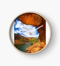 Murchison River and Rock Overhang Clock