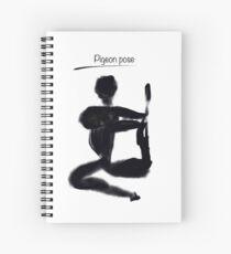 Yoga illustration, Pigeon pose Spiral Notebook