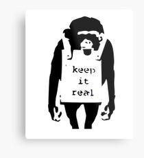 Banksy garde le vrai singe Impression métallique