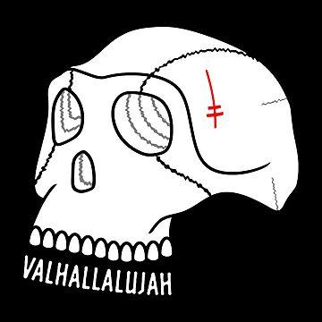 Valhallalujah Skull by MikeTheGinger94