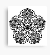 Black and White Print of Exotic Star Fish Canvas Print