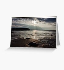 evening capture of my number 1 beach in county clare, lahinch  beach , lehinch, county clare, ireland. cliffs of moher in the very far distance. ireland. Greeting Card