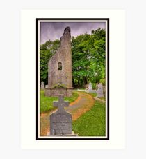 celtic moument burial ground, county clare, ireland. Art Print