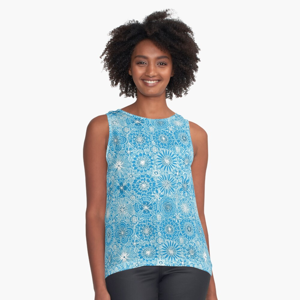 Pattern 93 Greek embroidery lace  Contrast Tank Front