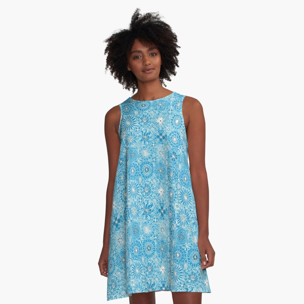 Pattern 93 Greek embroidery lace  A-Line Dress Front
