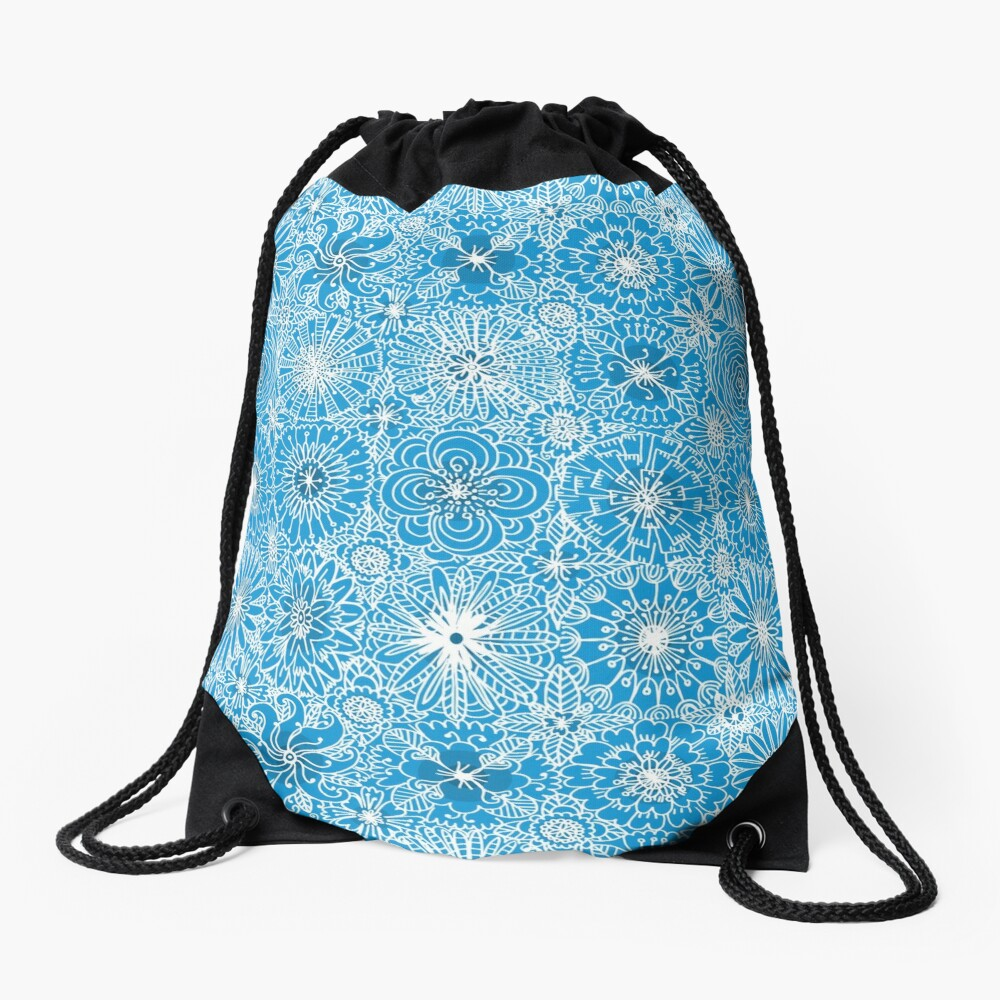 Pattern 93 Greek embroidery lace  Drawstring Bag Front