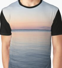 Silky and Transparent - Dawn Gradient on the Waterfront Graphic T-Shirt