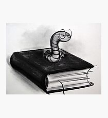 To My Favorite Book Worm Photographic Print