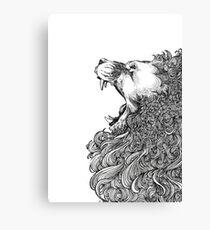 The Black Lion's Roar Canvas Print