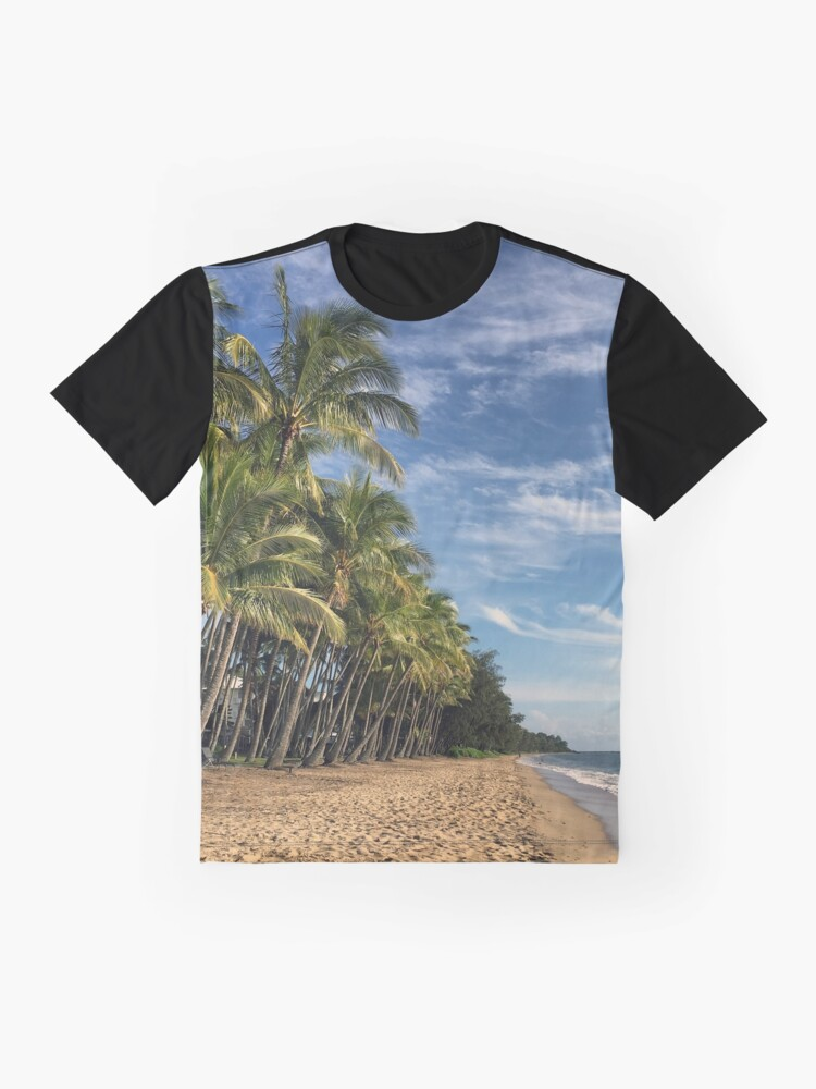 Alternate view of Palm Cove Beach, a strong and beautiful image Graphic T-Shirt