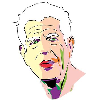 anthony bourdain by 2piu2design