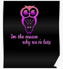 Funny Tardy Owl Poster