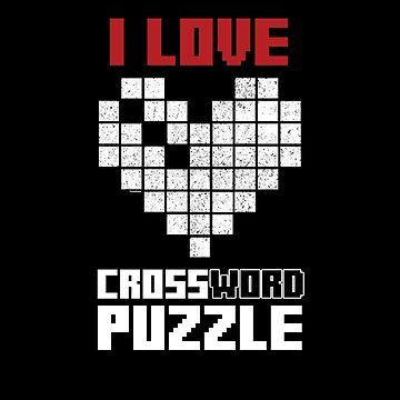 I Love Crossword Puzzle by TomGiantDesigns
