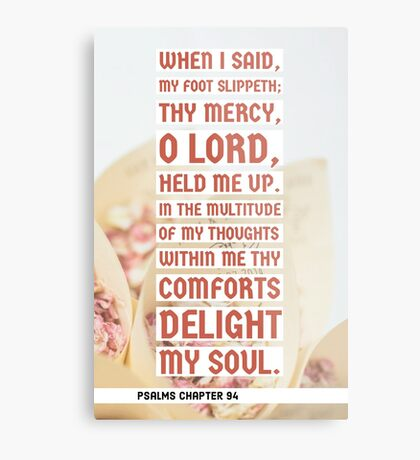 Psalms chapter 94 Metal Print