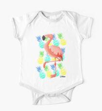 Summer flamingo Short Sleeve Baby One-Piece