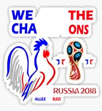 france champion du monde 2018 - french world cup 2018 Sticker