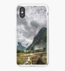 Impressive weather conditions at Milford Sound iPhone Case