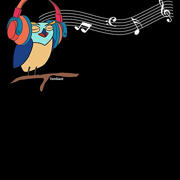 Music Lover Owl by TomGiantDesigns