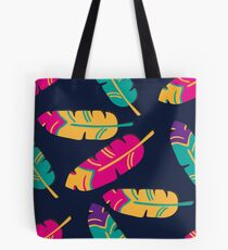Colorful seamless feather pattern.  Tote Bag