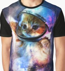 Cute Space Cat Cosmos Graphic T-Shirt