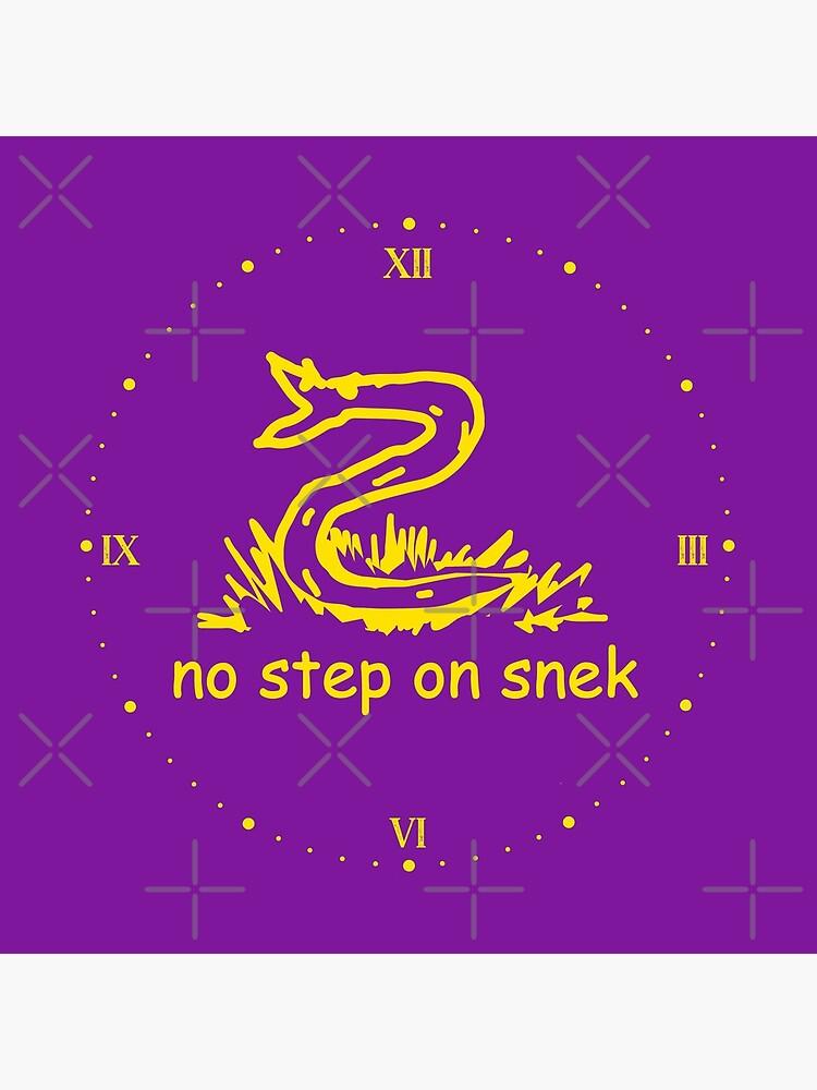No hay ningún paso en Snek Retro MAGA amarillo y violeta violeta bandera moderna paseo en helicóptero No pise sobre mí ANCAP Libertario Kekistan divertida serpiente infantil Gadsden Parodia de bandera HD ALTA CALIDAD de iresist
