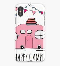 Happy camper - Funny RV Camper iPhone Case