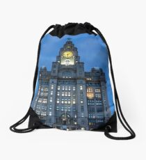 The Royal Liver Building Drawstring Bag