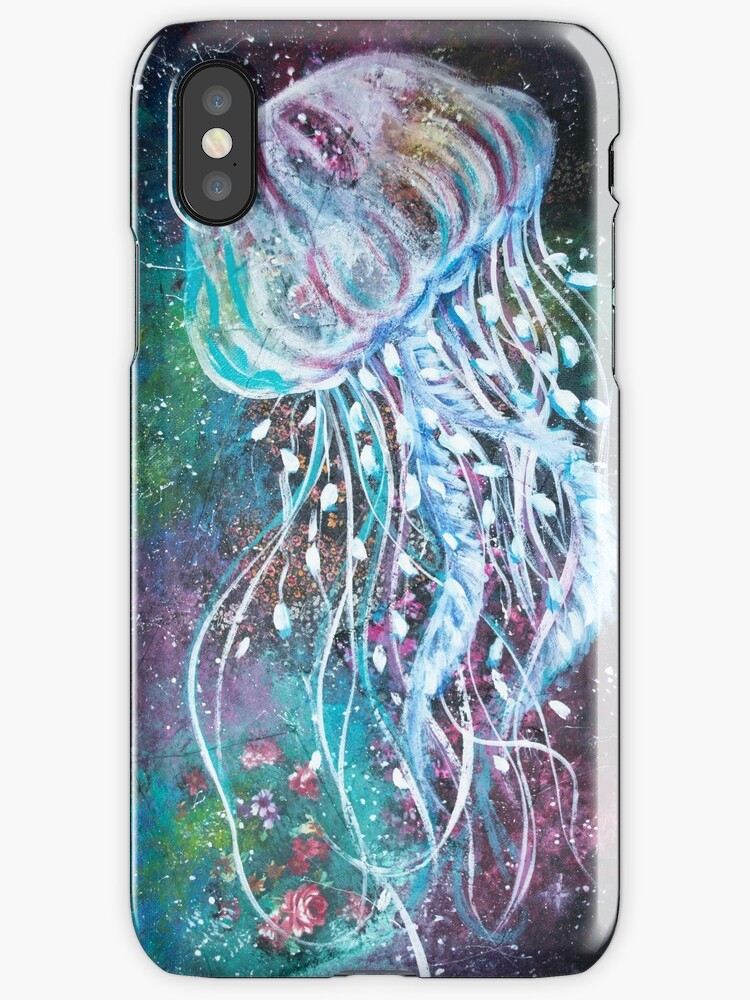 Space Floral Jellyfish  by fugitiverabbit