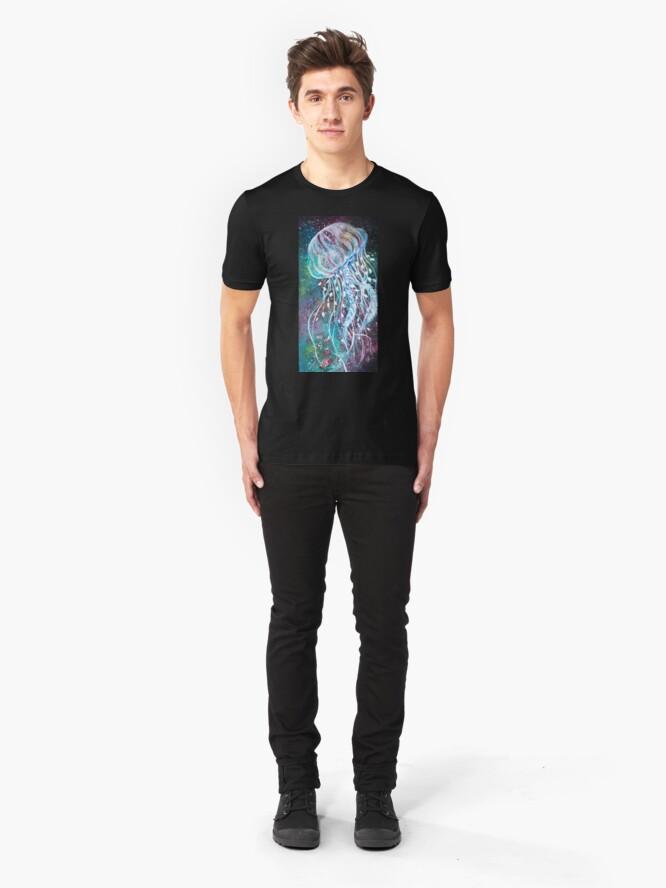 Vista alternativa de Camiseta ajustada Espacio Medusas florales