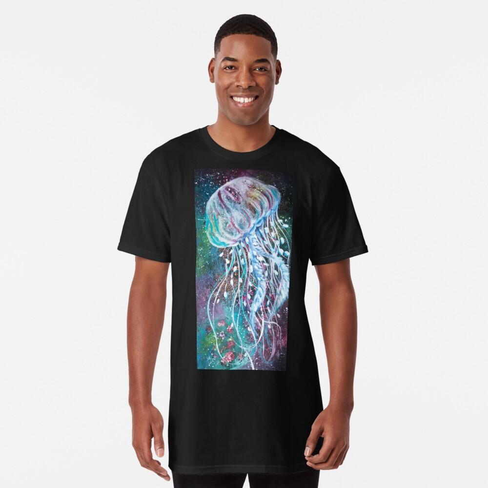 Espacio Medusas florales Camiseta larga
