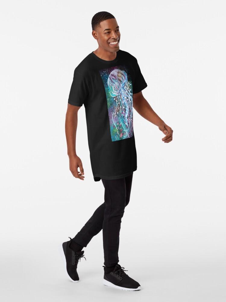 Vista alternativa de Camiseta larga Espacio Medusas florales