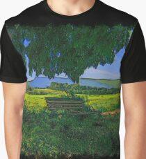 Rural area drawn Art Graphic T-Shirt