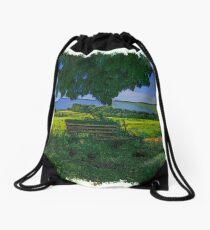Rural area drawn Art Drawstring Bag
