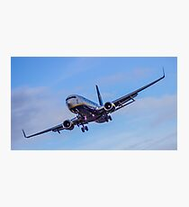 Ryanair coming in to land Photographic Print