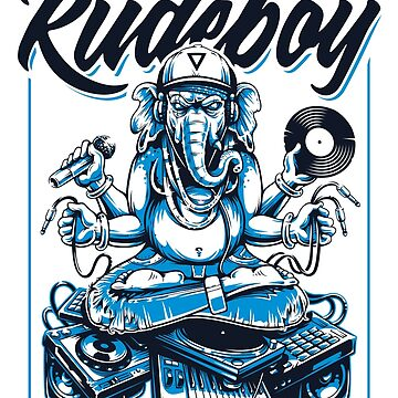 Ganesha Rude Boy (White BG) by Vecster