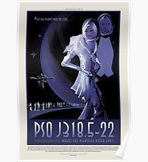 Exoplanet PSO J318.5-22 - Exoplanet Reisebüro, JPL Reise Poster, Visionen der Zukunft, NASA, Planeten Poster