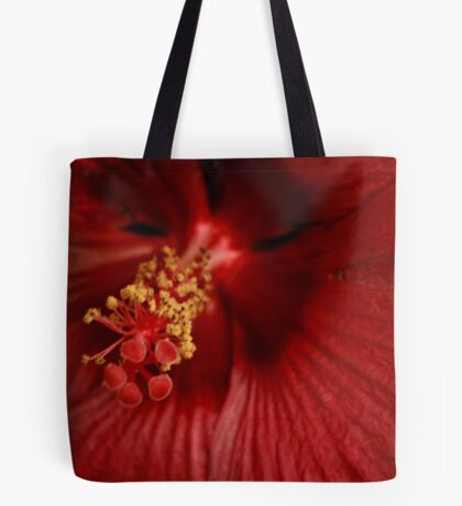 Inside Close up of a Hibiscus Tote Bag