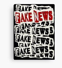 FAKE NEWS FAKE NEWS FAKE NEWS Canvas Print
